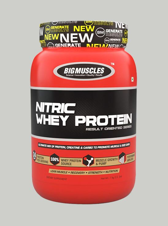Picture of Bigmuscles Nutrition Nitric Whey Protein Rich Chocolate 900gm