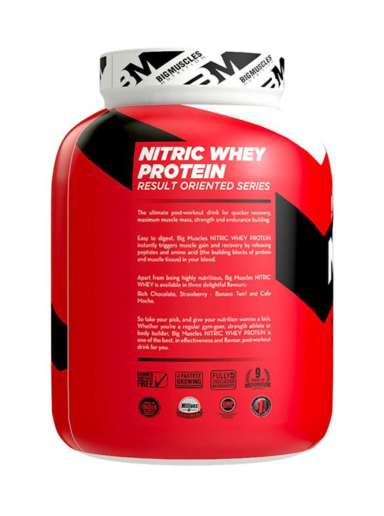 Picture of Bigmuscles Nutrition Nitric Whey Protein Rich Chocolate 4.4 lbs
