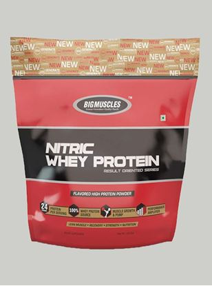 Picture of Bigmuscles Nutrition Nitric Whey Protein Rich Chocolate 10 lbs