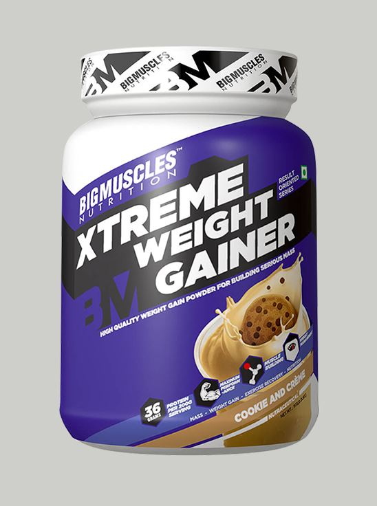 Picture of Bigmuscles Nutrition Xtreme Weight Gainer Cookie & Cream 1 kg