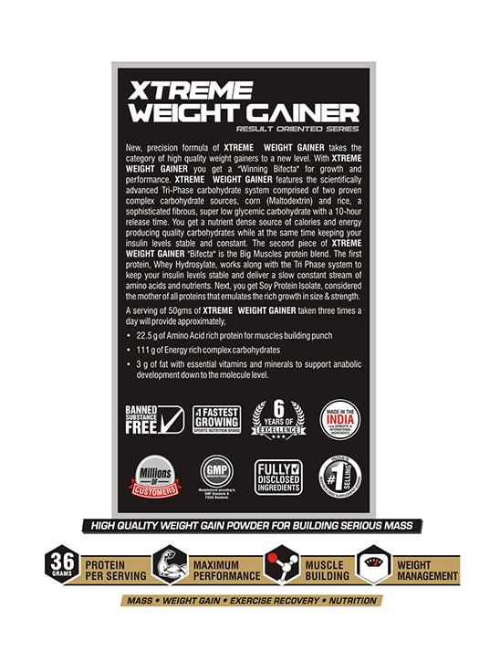 Picture of Bigmuscles Nutrition Xtreme Weight Gainer Cookie & Cream 2.7 kg