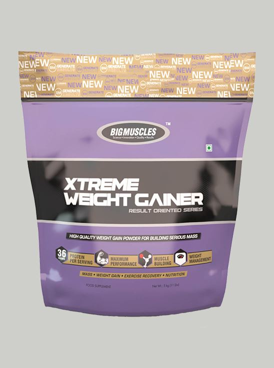 Picture of Bigmuscles Nutrition Xtreme Weight Gainer Cookie & Cream 5 kg