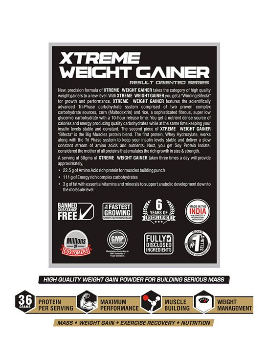 Picture of Bigmuscles Nutrition Xtreme Weight Gainer Strawberry 2.72 kg