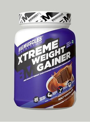 Picture of Bigmuscles Nutrition Xtreme Weight Gainer Malt Chocolate 2.2 lbs