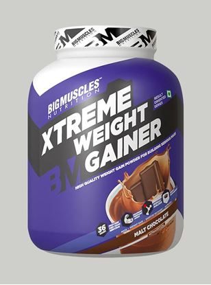 Picture of Bigmuscles Nutrition Xtreme Weight Gainer Malt Chocolate 6 lbs