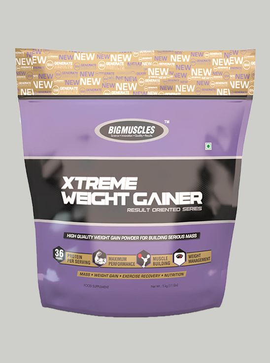 Picture of Bigmuscles Nutrition Xtreme Weight Gainer Malt Chocolate 11 lbs