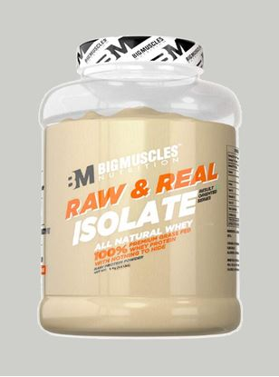 Picture of Bigmuscles Nutrition Raw & Real Isolate Whey Protein Unflavoured 4.4 lbs