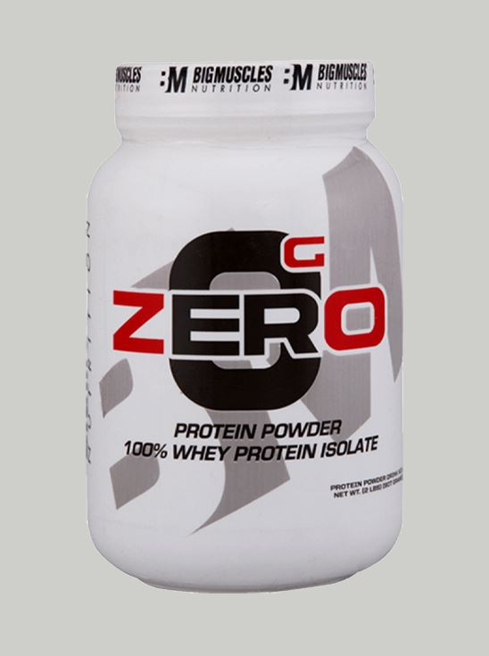 Picture of Bigmuscles Nutrition ZERO Protein Powder from 100% Whey Isolate Strawberry & Banana Twirl 2 lbs