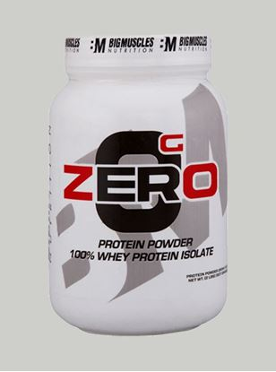 Picture of Bigmuscles Nutrition ZERO Protein Powder from 100% Whey Isolate Caffe Latte 2 lbs