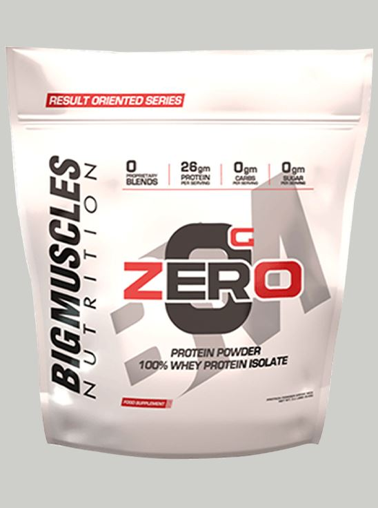 Picture of Bigmuscles Nutrition ZERO Protein Powder from 100% Whey Isolate Caffe Latte 9 lbs