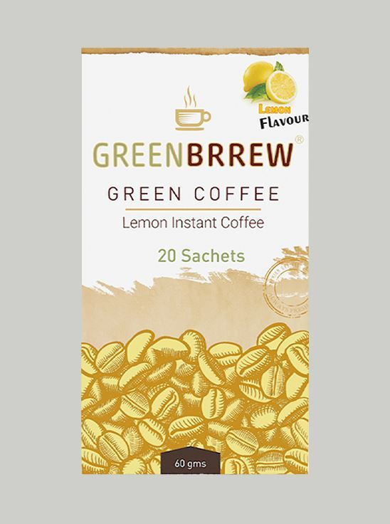 Picture of Greenbrrew Instant Green Coffee, Lemon (20 Sachets, 3g Each)