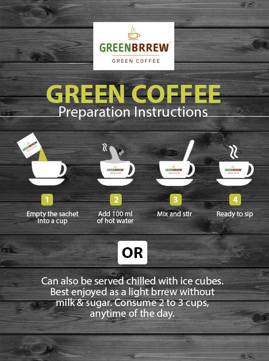 Picture of Greenbrrew Instant Green Coffee, Strong (20 Sachets, 3g Each)
