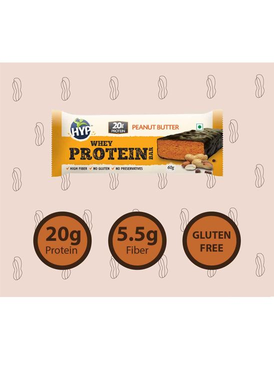 Picture of HYP Meal Replacement Whey Bar Peanut Butter and Chocolate Pack of 6