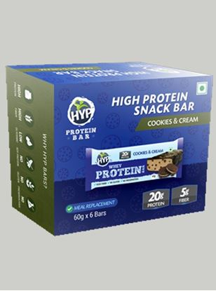 Picture of HYP Meal Replacement Whey Bar Cookies and Cream Pack of 6