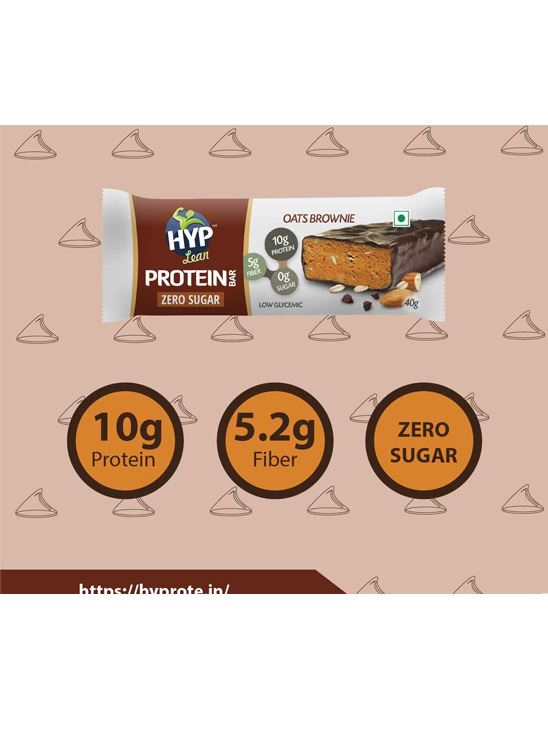 Picture of HYP Lean Sugarfree Protein Bar Oats Brownie - Pack of 6