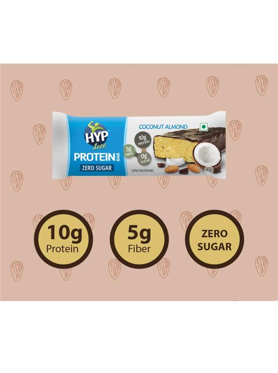 Picture of HYP Lean Sugarfree Protein Bar Coconut Almond - Pack of 6