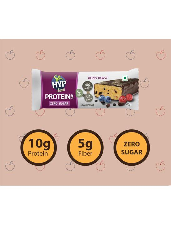 Picture of HYP Lean Sugarfree Protein Bar Berry Burst - Pack of 6