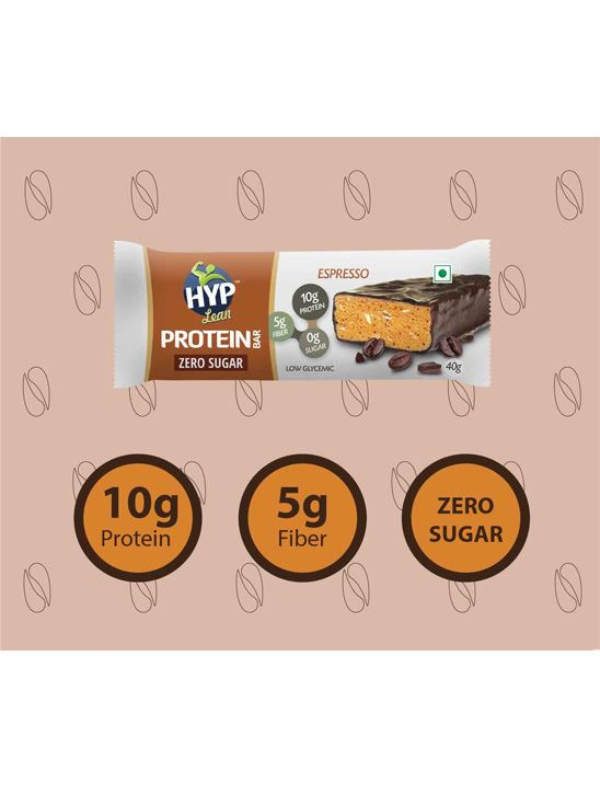 Picture of HYP Lean Sugarfree Protein Bar, Chocolate Espresso - Pack of 6
