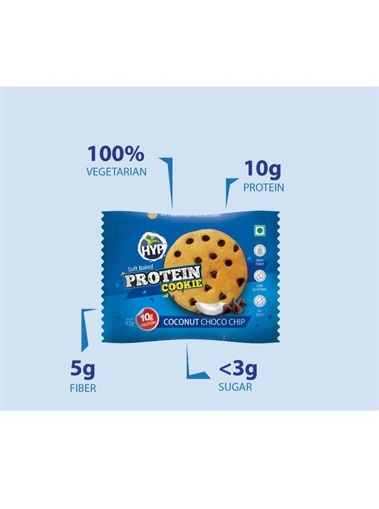 Picture of HYP Protein Cookies Coconut Choco Chip Pack of 6