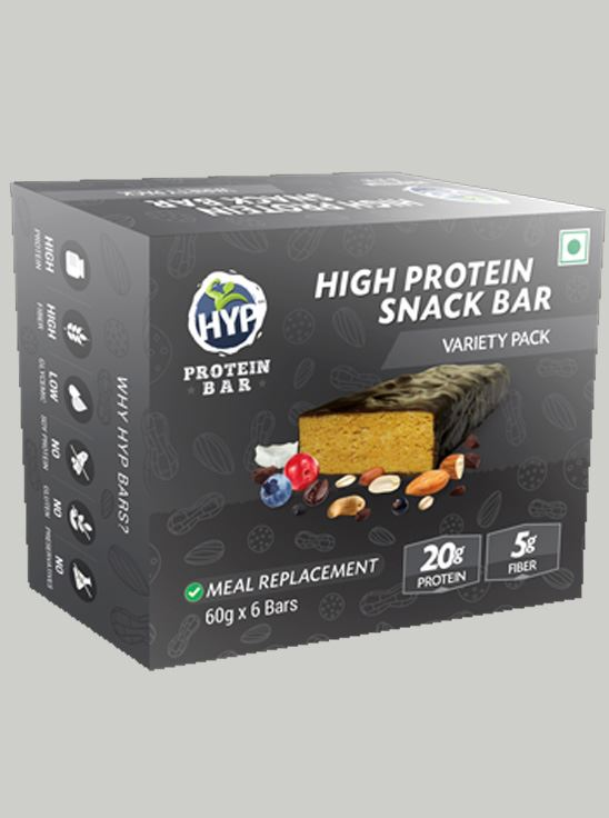 Picture of HYP Meal Replacement Whey Bar Almond Fudge, Peanut Butter, Cookies and Cream Pack of 6