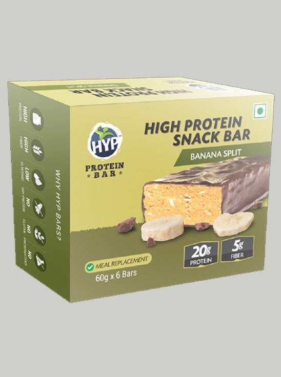 Picture of HYP Meal Replacement Whey Bar Banana Split Pack of 6