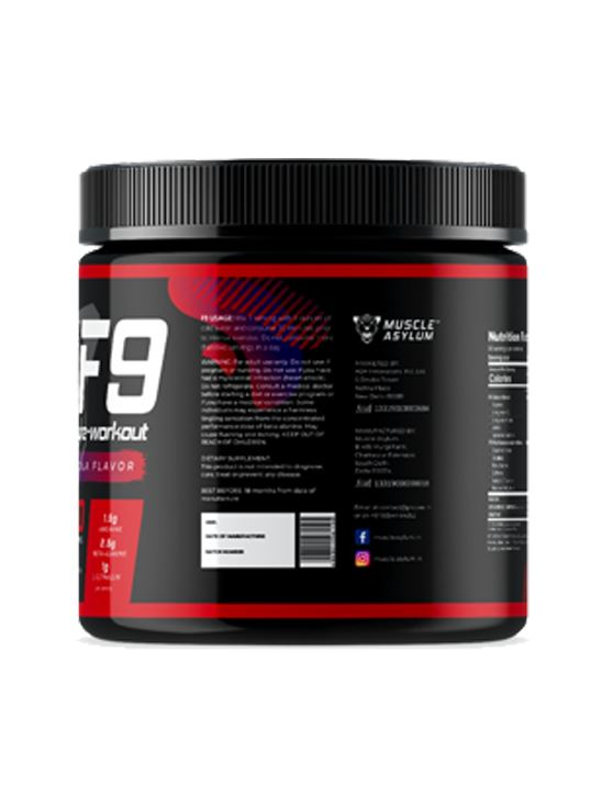 Picture of  Muscle Asylum F9 Pre-Workout Cola 50 Servings 400 gm