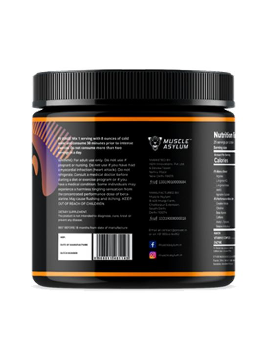 Picture of  Muscle Asylum F9 Pre-Workout Mango 25 Servings 200 gm