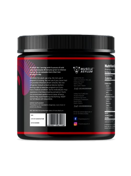 Picture of  Muscle Asylum F9 Pre-Workout Cola 25 Serving 200 gm