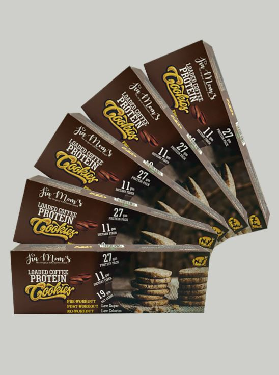 Picture of Jia Mom's Loaded Coffee Protein Cookies 90gm- Pack Of 5