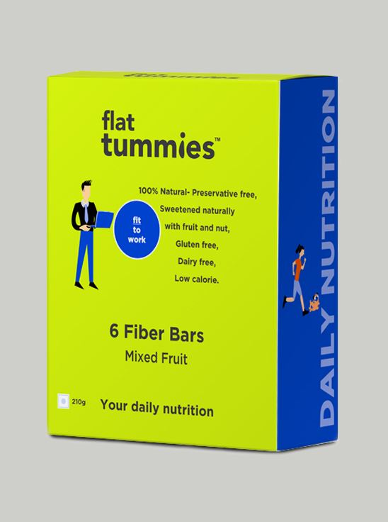 Picture of Flat Tummies Fiber Bar with Mixed Fruit 630gm Pack of 18