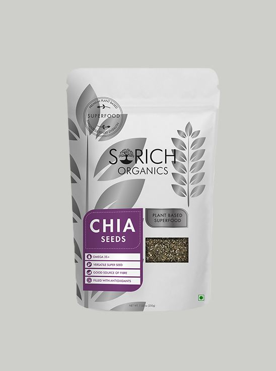 Picture of Sorich Organics Chia Seeds Protein And Fibre Rich Superfood 200 Gm