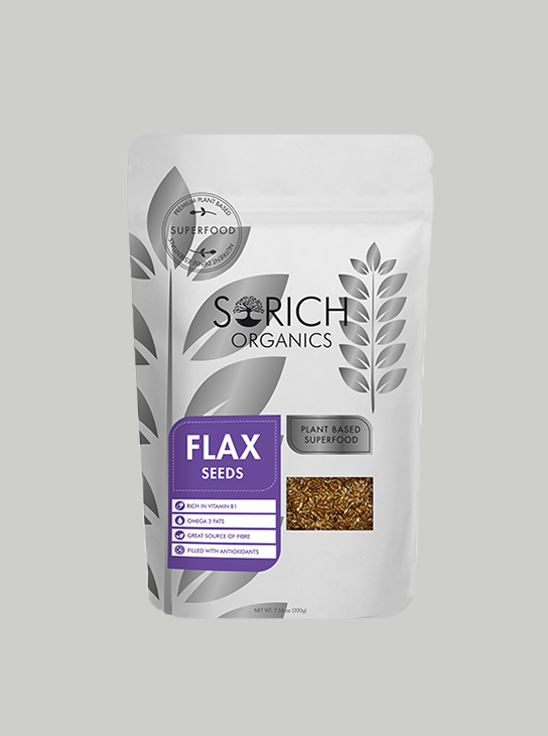 Picture of Sorich Organics Flax Seeds Fibre And Omega 3 Rich Superfood 200 Gm