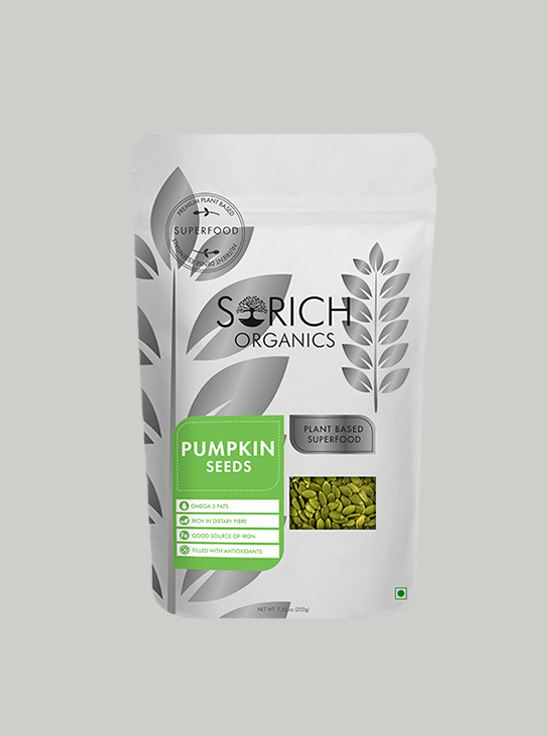 Picture of Sorich Organics Pumpkin Seeds Protein And Fibre Rich Superfood 200 Gm