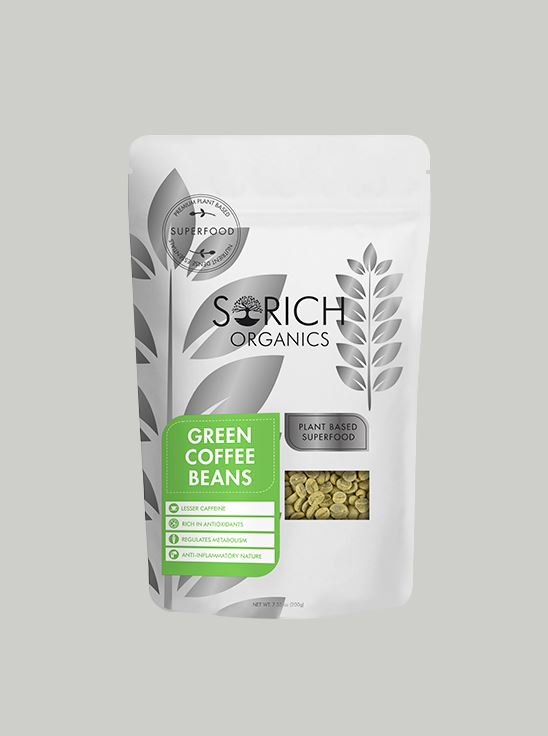 Picture of Sorich Organics Green Coffee Beans For Weight Loss 200 Gm