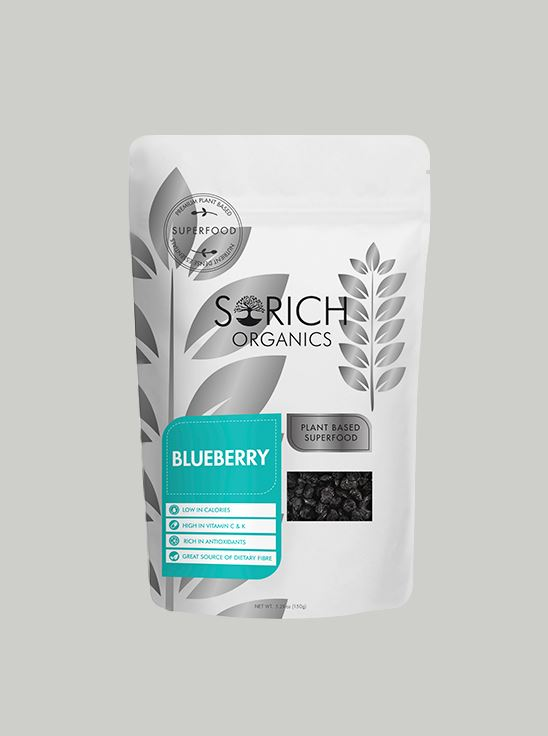 Picture of Sorich Organics Naturally Dried Blueberries 150 Gm