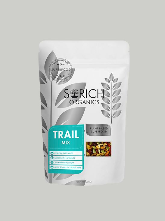 Picture of Sorich Organics Trail Mix ( Fruits And Superfoods ) Unsulphured, Unsweetened And Naturally Dehydrated 200 Gm