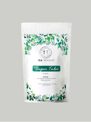 Picture of TeaTreasure Super Tulsi Green Tea - 50 g
