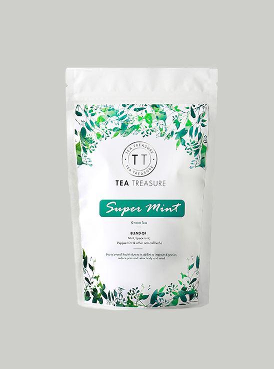 Picture of TeaTreasure Super Mint Green Tea - 50 g