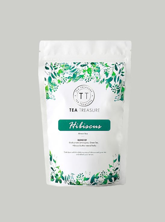 Picture of TeaTreasure Tropical Hibiscus Green Tea - 50 g