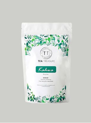 Picture of TeaTreasure Kashmiri Kahwa Green Tea Antioxidants Rich Desi kahwa Detox Tea 50 g