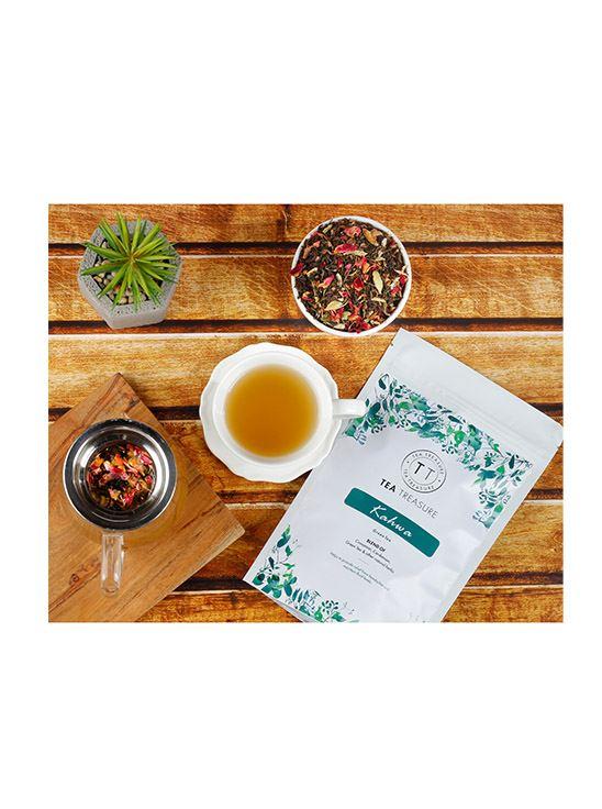 Picture of TeaTreasure Kashmiri Kahwa Green Tea Antioxidants Rich Desi kahwa Detox Tea 50 g