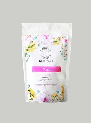 Picture of TeaTreasure Calm Herbal Tisane Tea for Healthy Hair & Glowing Skin Detox Herbal Tea- 50 g