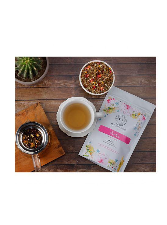 Picture of TeaTreasure Calm Herbal Tisane Tea for Healthy Hair & Glowing Skin Detox Herbal Tea- 50 g
