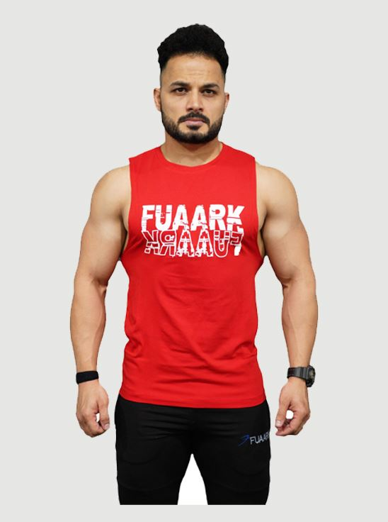 Picture of Fuaark Deep Arm Tank - Blood Red Medium