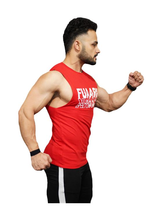 Picture of Fuaark Deep Arm Tank - Blood Red X-Large
