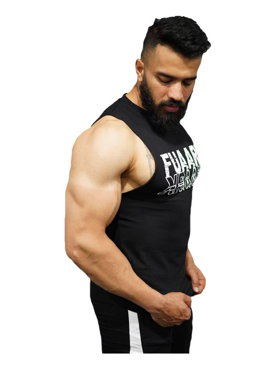 Picture of Fuaark Deep Arm Tank - Brilliant Black Small