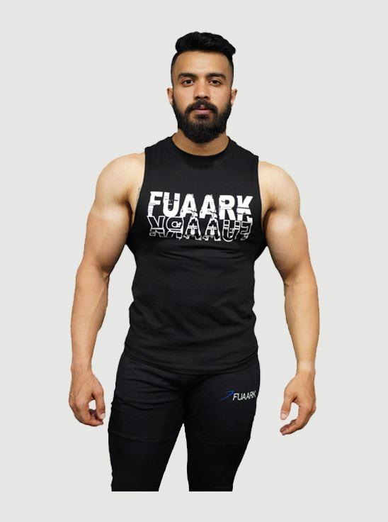 Picture of Fuaark Deep Arm Tank - Brilliant Black Medium