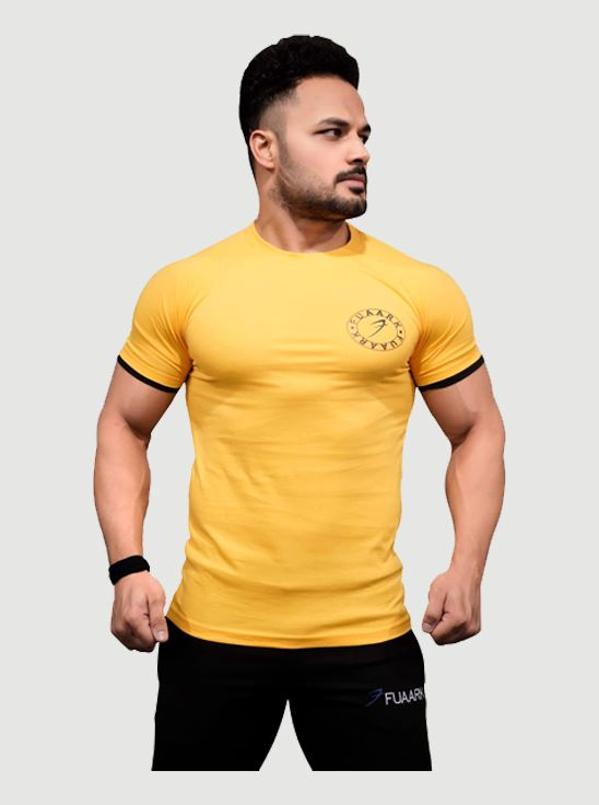 Picture of Fuaark Basic Tshirt  Yellow Large