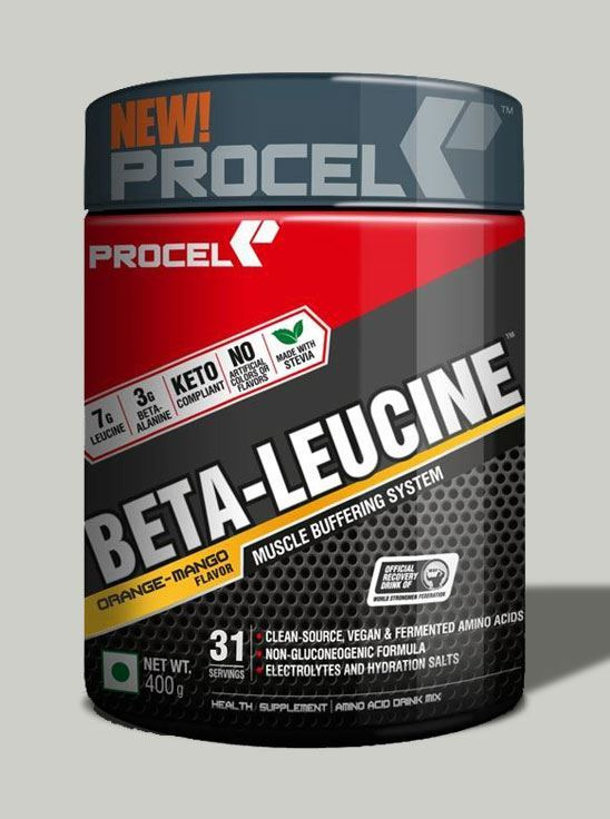 Picture of PROCEL BETA-LEUCINE Keto BCAA with 4X Leucine 400g (Orange-Mango)