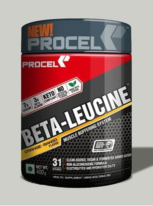 Picture of PROCEL BETA-LEUCINE Keto BCAA with 4X Leucine 400g Orange-Mango